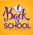 Back to school lettering composition with image vector image