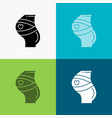 belt safety pregnancy pregnant women icon over vector image vector image