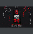 black friday sale banner template with christmas vector image vector image