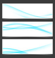 blue business card layout abstract flyer design vector image vector image