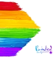 Bright rainbow paint strokes arrow background vector image vector image