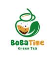 bubble coffee drink logo vector image