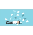 business man bankrupt by taxes vector image vector image