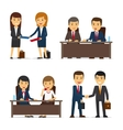 Business People Meeting vector image vector image