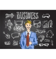 business sketch vector image vector image