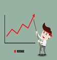 Businessman accelerate business growth vector image vector image
