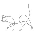 cat animal one line vector image