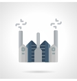 Cement factory flat color icon vector image
