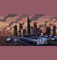 city in ruins vector image