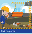 construction and civil engineering vector image vector image