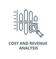 cost and revenue analysis line icon linear vector image vector image