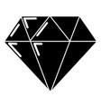 diamond icon simple black style vector image