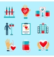 Donor Icons Set vector image vector image