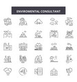 enviromental consultant line icons signs vector image