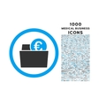 Euro Wallet Rounded Icon with 1000 Bonus Icons vector image vector image