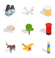 factory district icons set isometric style vector image
