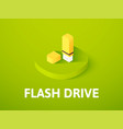 flash drive isometric icon isolated on color vector image vector image