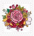 flower bouquet vector image