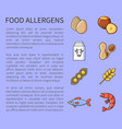 food allergens poster allergic products vector image