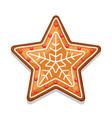 gingerbread cookies star merry vector image vector image