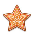 gingerbread cookies star of merry vector image vector image