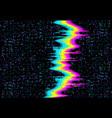glitch noise tv screen pixel digital vhs effect vector image vector image
