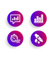 graph chart quick tips and analytical chat icons vector image vector image