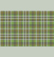 green mosaic check plaid seamless pattern vector image vector image