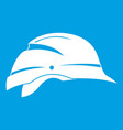 hardhat icon white vector image vector image