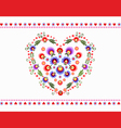 HeartFolkEmbroidery vector image vector image