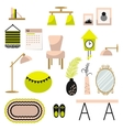 Home decor and furniture set flat style vector image vector image
