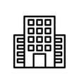 hotel travel icon vector image