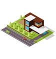 isometric house in the Scandinavian style vector image vector image