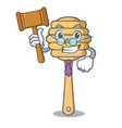 judge honey spoon mascot cartoon vector image