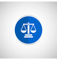 justice icon symbol measurement balance vector image