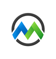 letter M business round logo vector image