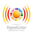 Logo the Rainbow Signal Colour Circle Symbol Icon vector image vector image