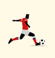 male figure playing soccer vector image