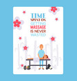 massage salon typographic poster cartoon vector image vector image