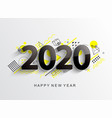 modern 2020 design card vector image