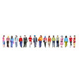 multiethnic group people banner vector image