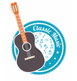 Music design over white background vector image vector image