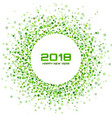 new year 2018 card green background vector image vector image