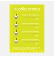 Noodles restaurant menu vector image