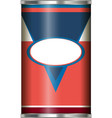 package design with red and blue label vector image vector image