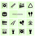 percussion icons vector image vector image