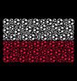 poland flag collage football ball icons vector image vector image