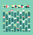 poster with wild and medicinal herbs in flat style vector image vector image