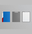 realistic clipboards folders for holding vector image vector image