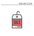 sale price tag thin line icon seasonal discount vector image